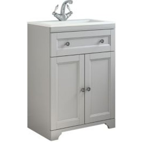 Cooke & Lewis Chadleigh Matt Light Grey Vanity Unit ...