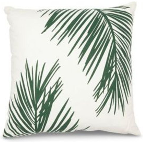 Palm silhouette Green & white Cushion
