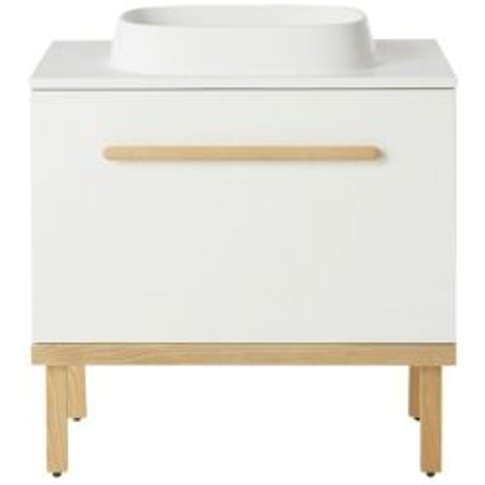 GoodHome Adriska White Vanity unit & basin pack