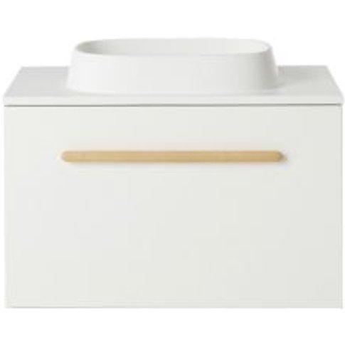 GoodHome Adriska White Vanity unit & basin pack