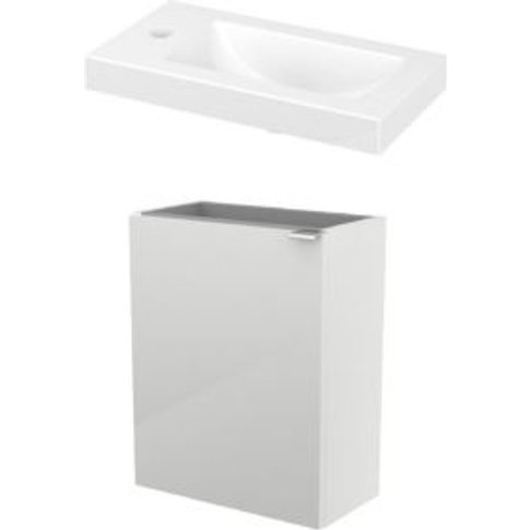 Goodhome Imandra Gloss White Vanity Unit & Basin
