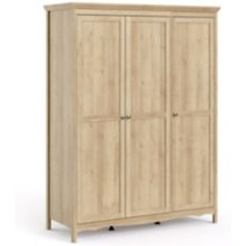 Silkeborg Traitional Riviera Oak Effect 3 Door Wardr...