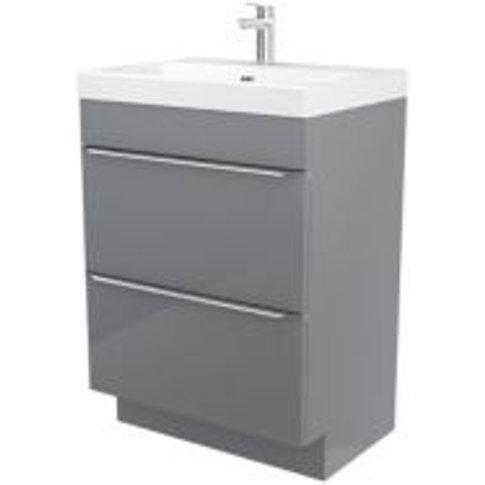 GoodHome Imandra Grey Vanity unit & basin  (W)604mm