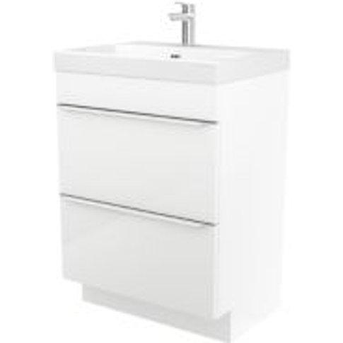 GoodHome Imandra White Vanity unit & basin  (W)604mm
