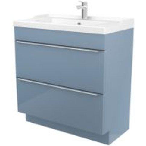 Goodhome Imandra Blue Vanity Unit & Basin  (W)804mm
