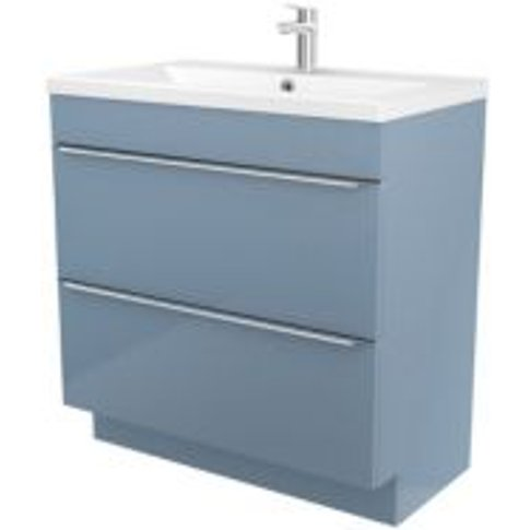Goodhome Imandra Blue Vanity Unit & Basin  (W)804mm