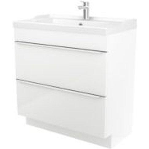 GoodHome Imandra White Vanity unit & basin  (W)804mm