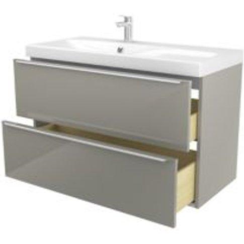 Goodhome Imandra Taupe Vanity Unit & Basin  (W)1004mm
