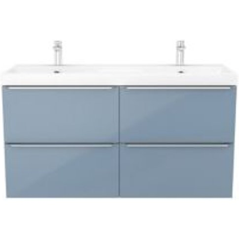 Goodhome Imandra Blue Vanity Unit & Basin  (W)1204mm