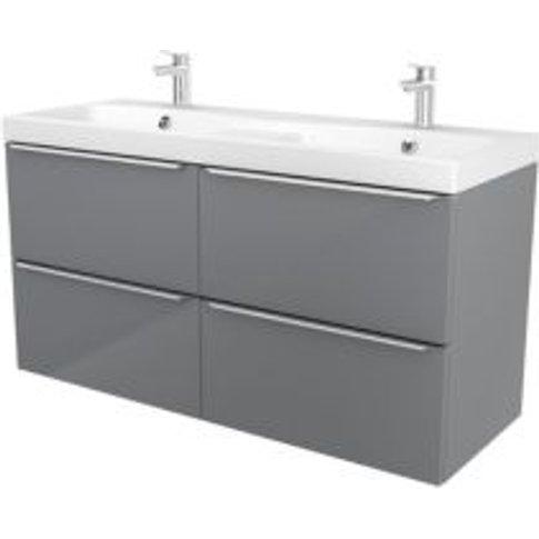 GoodHome Imandra Grey Vanity unit & basin  (W)1204mm
