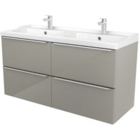 Goodhome Imandra Taupe Vanity Unit & Basin  (W)1204mm
