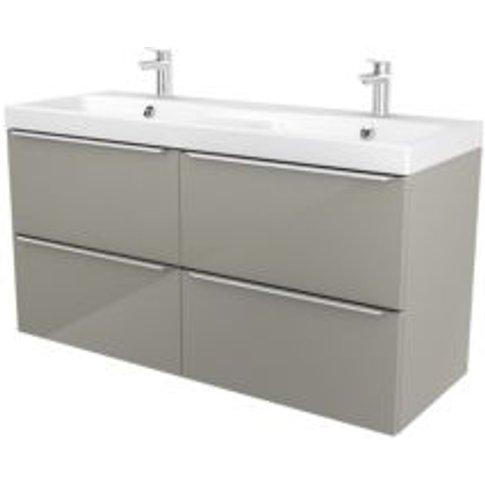 GoodHome Imandra Taupe Vanity unit & basin  (W)1204mm