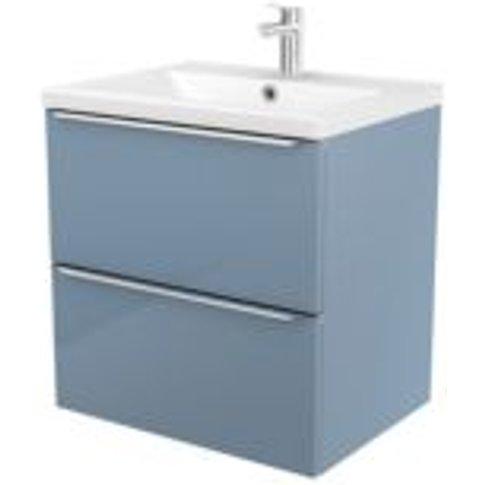 GoodHome Imandra Blue Vanity unit & basin  (W)604mm