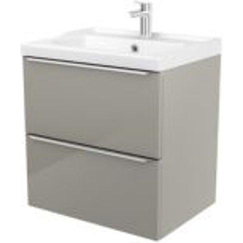 Goodhome Imandra Taupe Vanity Unit & Basin  (W)604mm