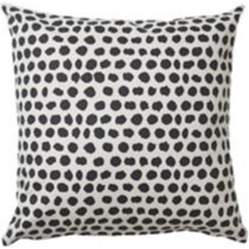 Denia Black & off white Dotted Cushion