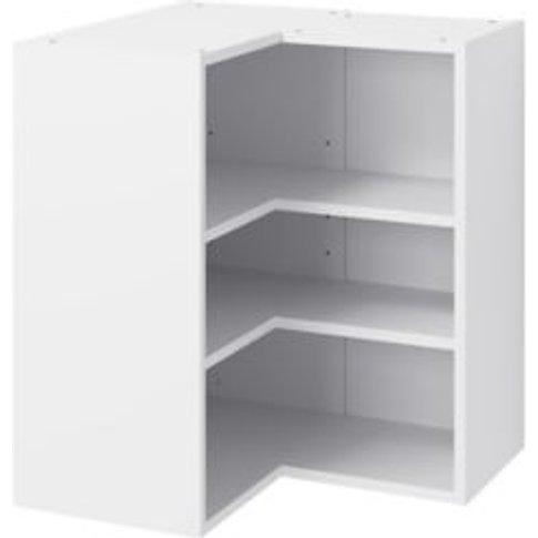 Goodhome Caraway Matt White Corner Wall Cabinet  (W)...