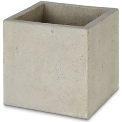 Hoa Light Grey Concrete Effect Fibre Clay Plant Pot ...