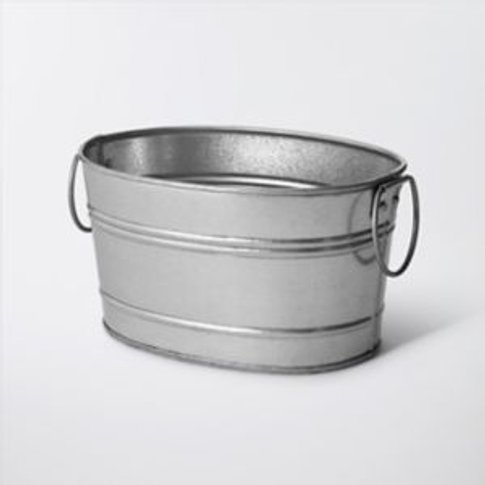 Rural Oval Metal Planter (H)130mm (L)250mm