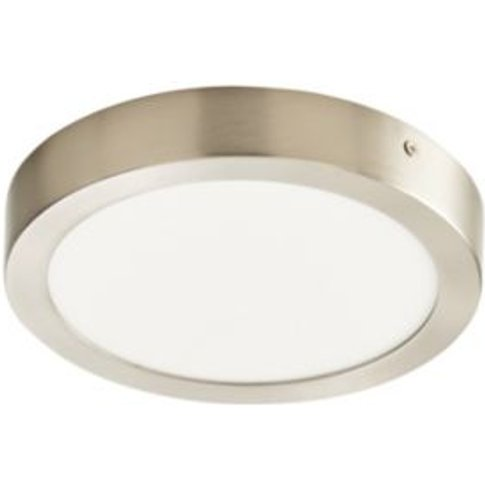 Aius Brushed Chrome Effect Ceiling Light