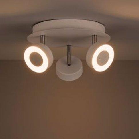 Tharros White 3 Lamp Spotlight
