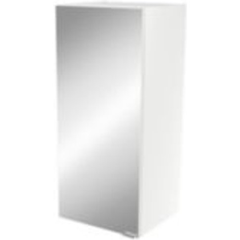 GoodHome Imandra Gloss White Deep Mirrored Wall cabi...