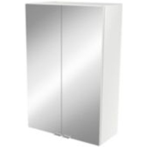 Goodhome Imandra Gloss White Deep Mirrored Wall Cabi...