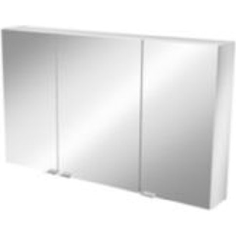 GoodHome Imandra Short Mirrored Wall cabinet  (W)1000mm
