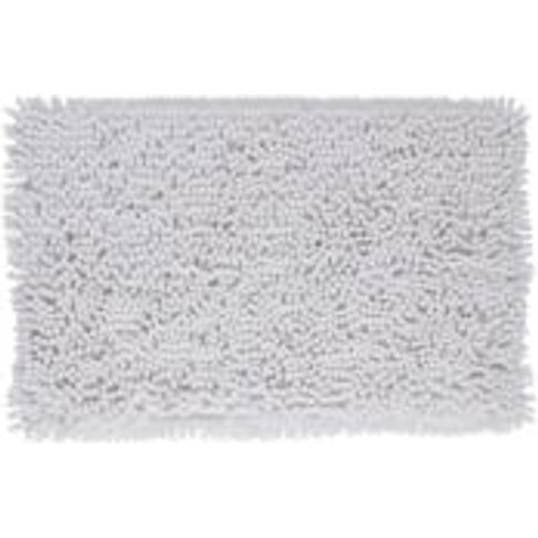 Cooke & Lewis Abava White Polyester Bath mat (L)800m...