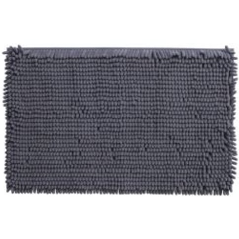Cooke & Lewis Abava Anthracite Polyester Bath Mat (L...
