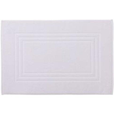 Cooke & Lewis Palmi White Cotton Bath Mat (L)800mm (...