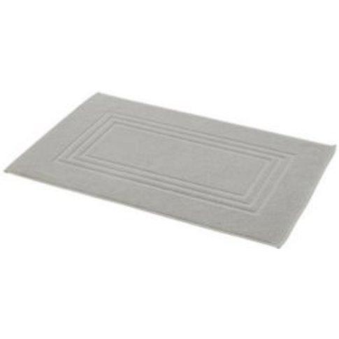Cooke & Lewis Palmi Silver Cotton Bath Mat (L)800mm ...