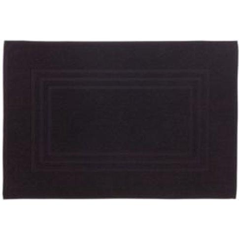Cooke & Lewis Palmi Black Cotton Bath mat (L)800mm (...