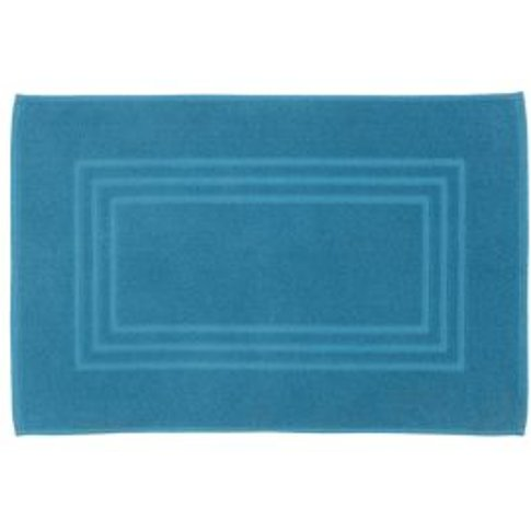 Cooke & Lewis Palmi Blue Cotton Slip Resistant Bath ...