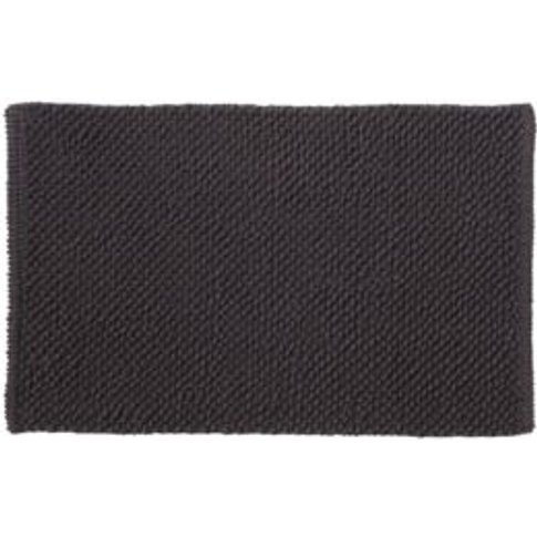 Cooke & Lewis Chanza Anthracite Dot & Tufty Cotton Bath Mat (L)800mm (W)500mm