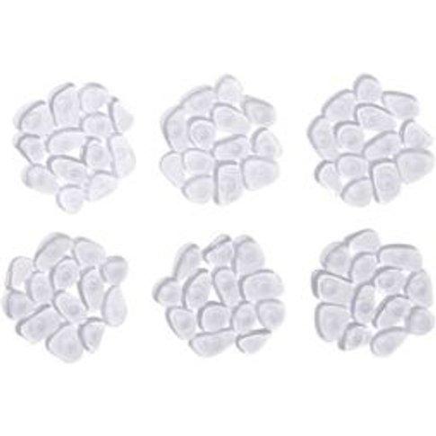 Cooke & Lewis Batumi Transparent Pvc Pebble Slip Resistant Bath Mat (L)120mm (W)120mm
