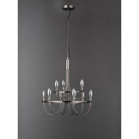 Fianna Gothic Black 9 Lamp Chandelier