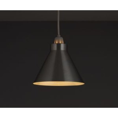 Silver Effect Cone Light Shade (D)190mm
