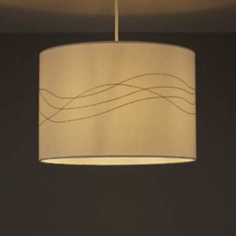 Cream Embroidered Light shade (D)310mm