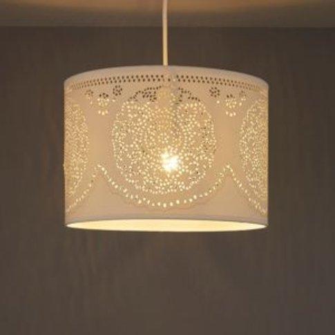 Ivory Doily Cylinder Light Shade (D)300mm