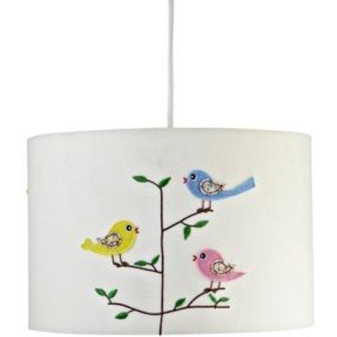 Colours Rosalba White Embroiderd Bird Light Shade (D...