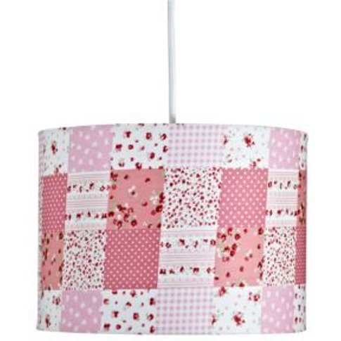 Colours Ferretti Pink Patchwork Light Shade (D)98cm