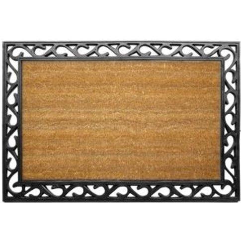 Diall Black & Natural Coir Door Mat (L)0.9m (W)600mm
