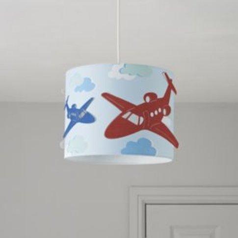 Colours Revolutio Blue Airplane Light Shade (D)98cm