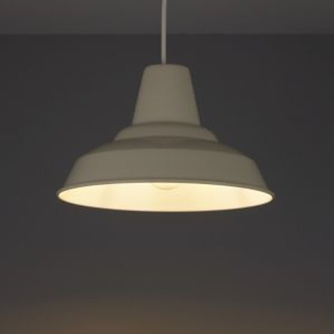 Colours Tezz Gloss Limestone Light Shade (D)290mm