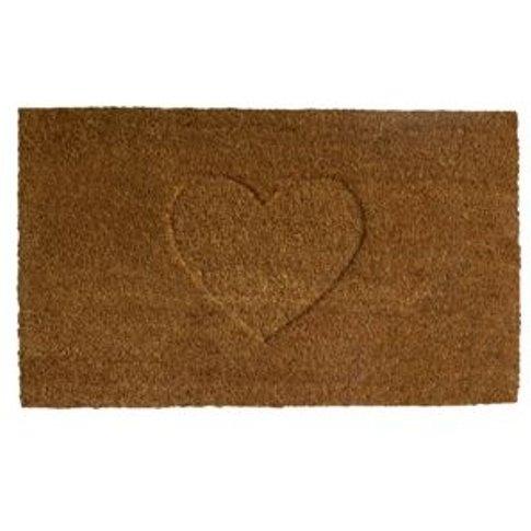 Colours Rudia Natural Heart Coir Door mat (L)750mm (...