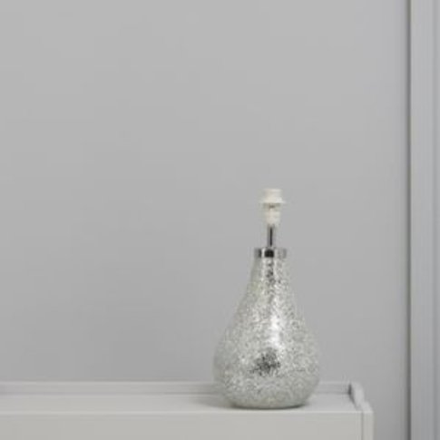 Colours Millina Mosaic Matt Silver effect Halogen Ta...