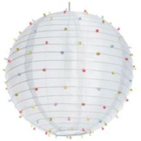 Colours White Beaded Pendant Light Shade (D)405mm