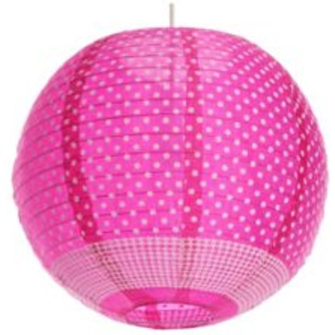 Colours Suisei Pink Printed Polka Dot Pendant Light ...