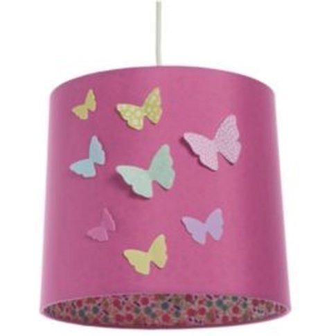 Colours Pink Butterflies Light Shade (D)23cm