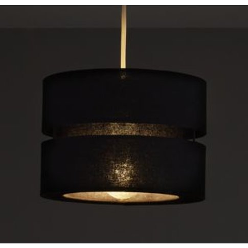 Colours Duo Black 2 Tier Light Shade (D)220mm